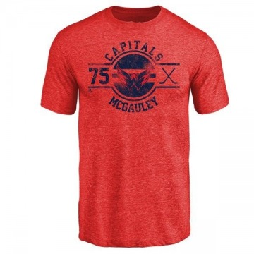Men's Tim McGauley Washington Capitals Insignia Tri-Blend T-Shirt - Red